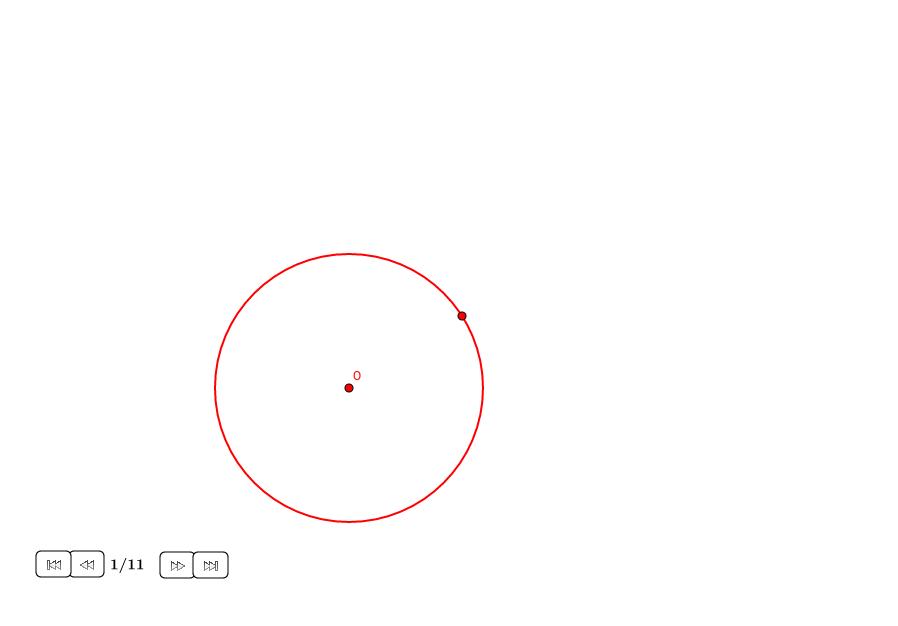 Cuadrado en un círculo usando solo compás