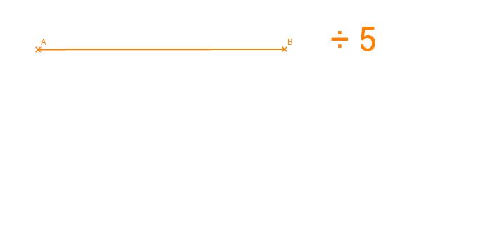 Dividir un segmento por un número entero.