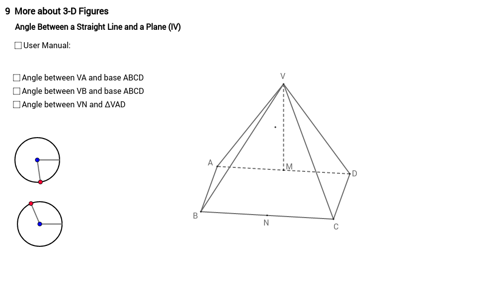 Angle between line and plane 4