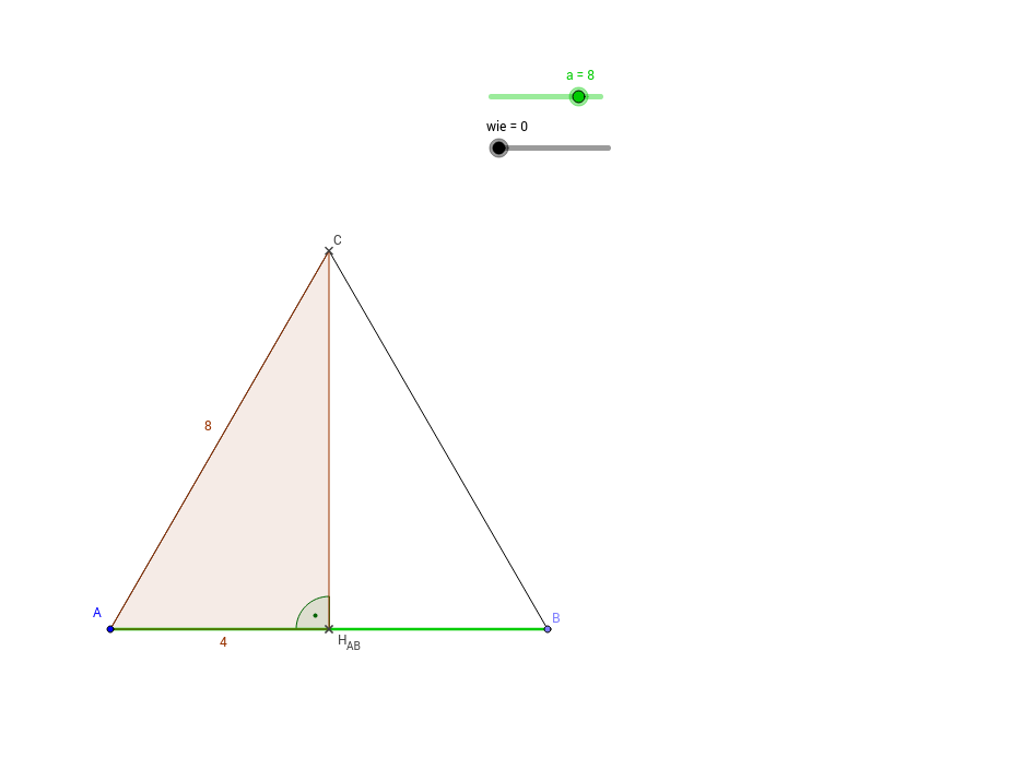 pythagoras h he gleichseitiges dreieck geogebra. Black Bedroom Furniture Sets. Home Design Ideas