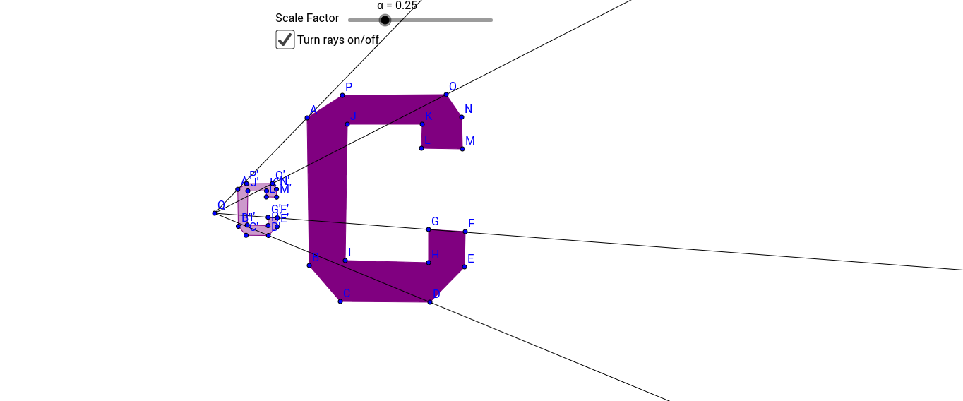 """Cortland """"C"""": Dilating a Shape with a scale factor [0,1]"""