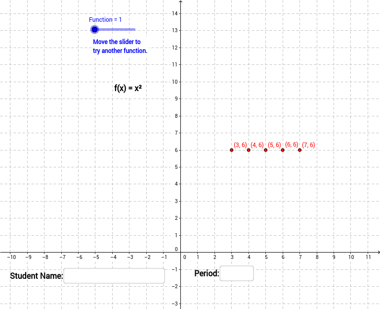 Coordintate Quiz: Plot Function Points
