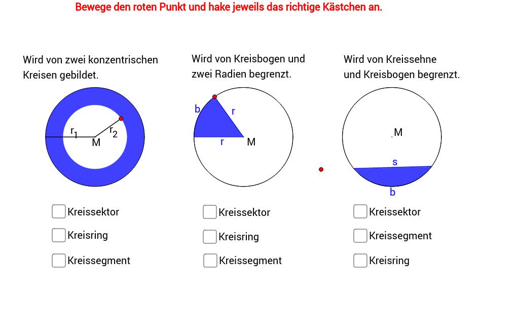 KreisRingSektorSegment