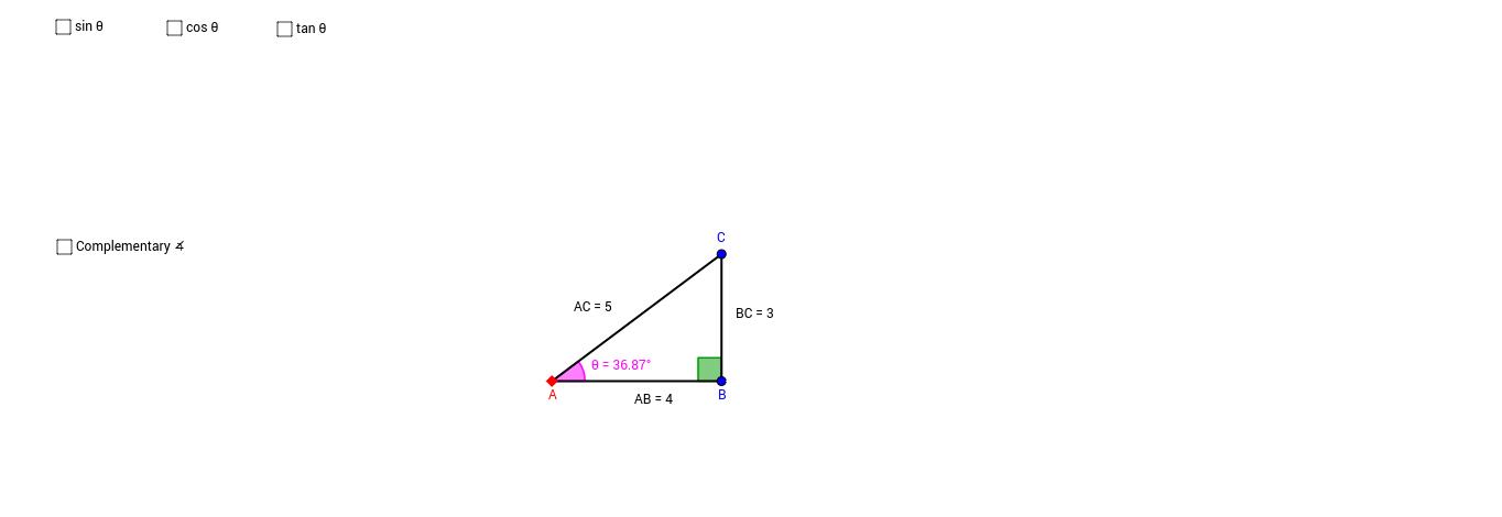 Trigonometric Ratios (Complementary)