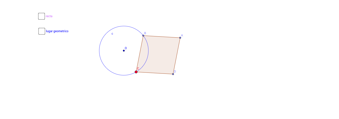 Lugares geométricos con isometrias