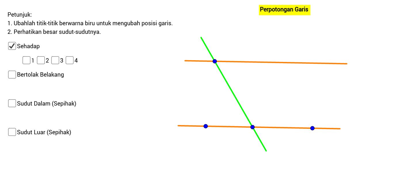 Perpotongan garis geogebra ccuart Gallery