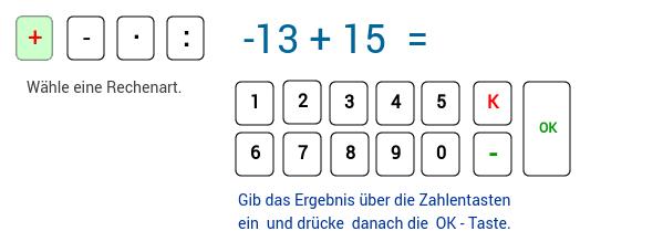 Rechnen mit ganzen Zahlen 2