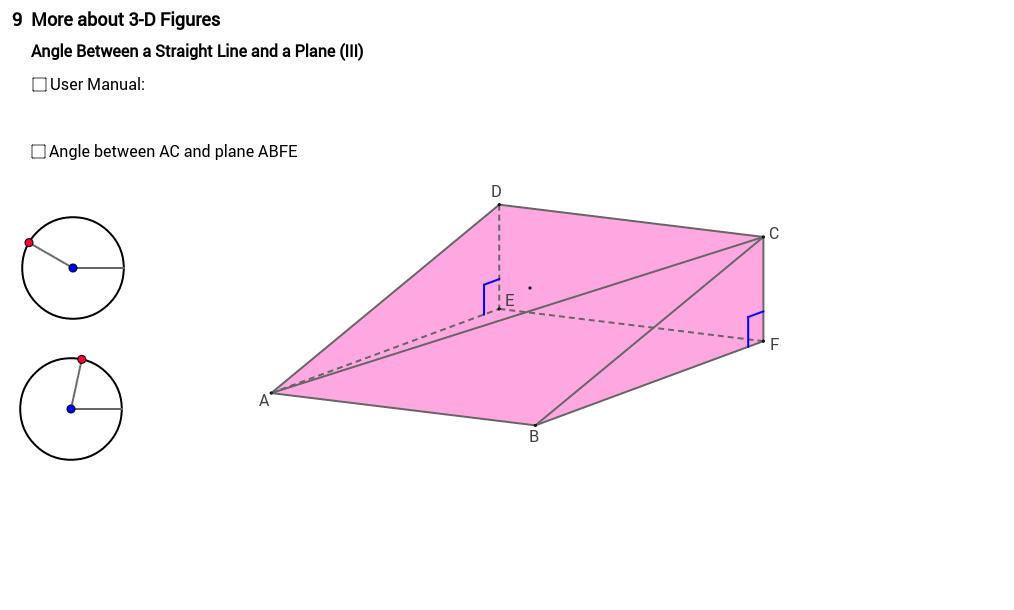 Angle between line and plane 3