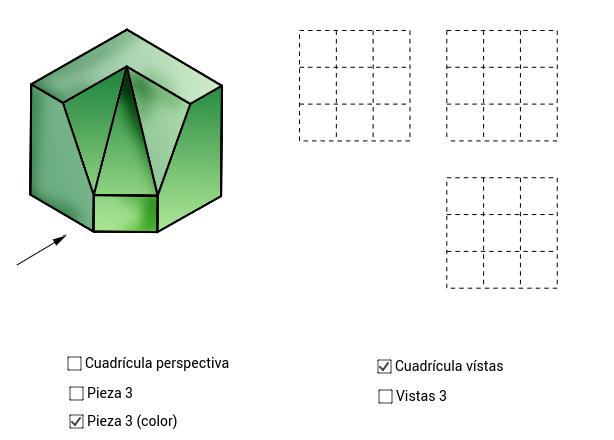 VISTAS/ISOMETRÍA (pieza 3)