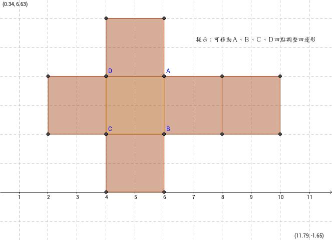 四邊形柱體表面積展開圖
