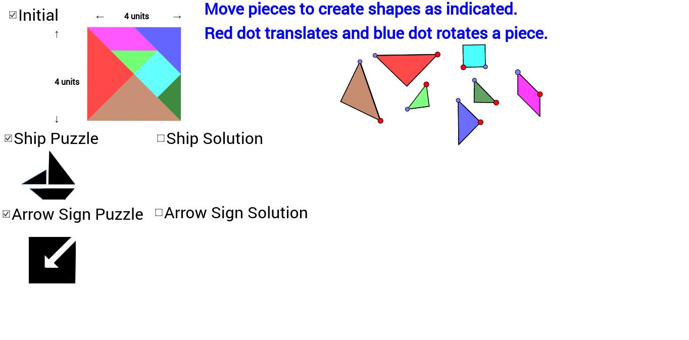 Tangram: Ship and Arrow Sign
