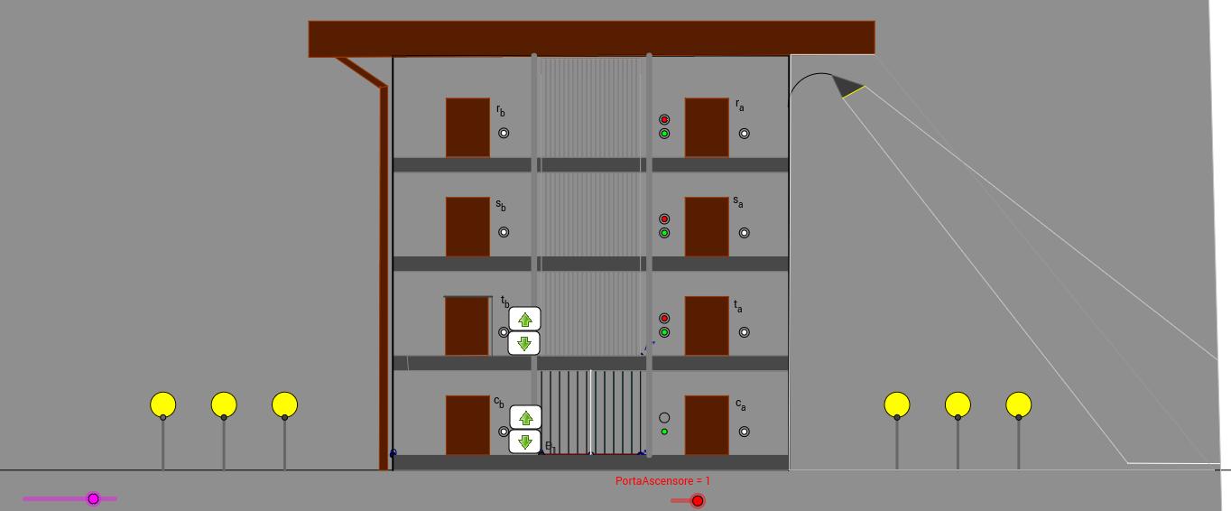 automatismi - rappresentazione fantasiosa di una palazzina