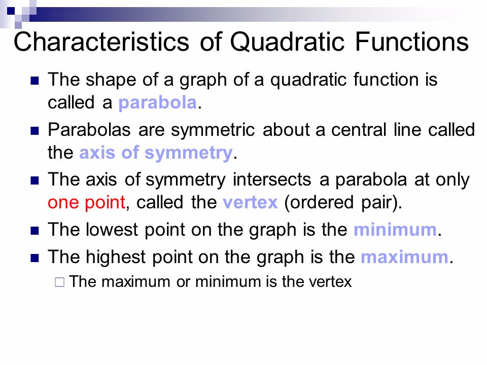 Characteristics of Quadratic Functions   GeoGebra