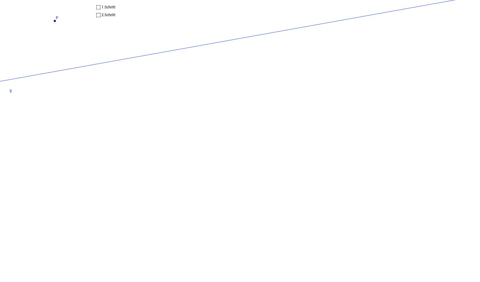 Senkrechte auf eine Gerade durch einen Punkt konstruieren