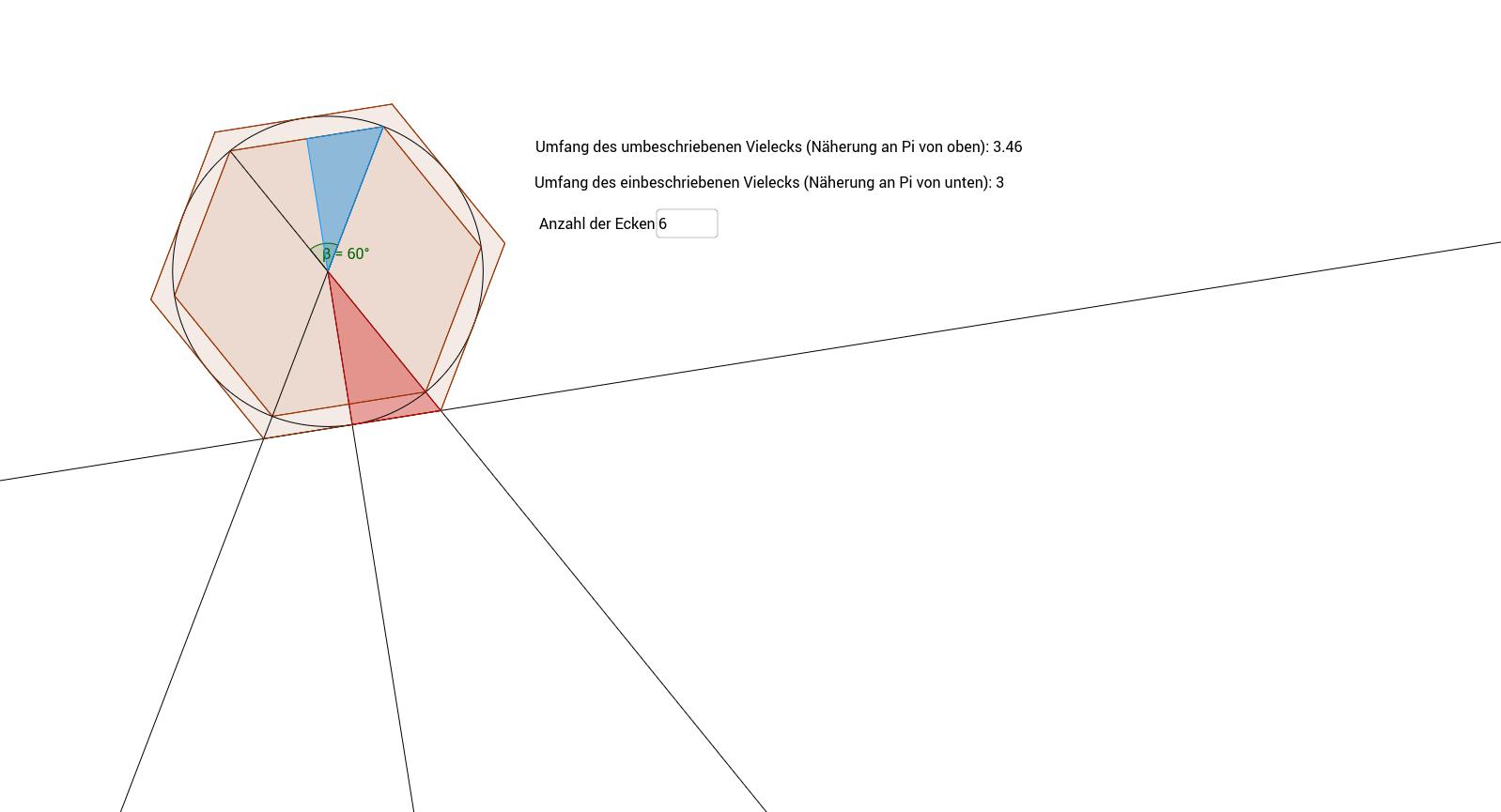 Pi-Berechnung Archimedes – GeoGebra