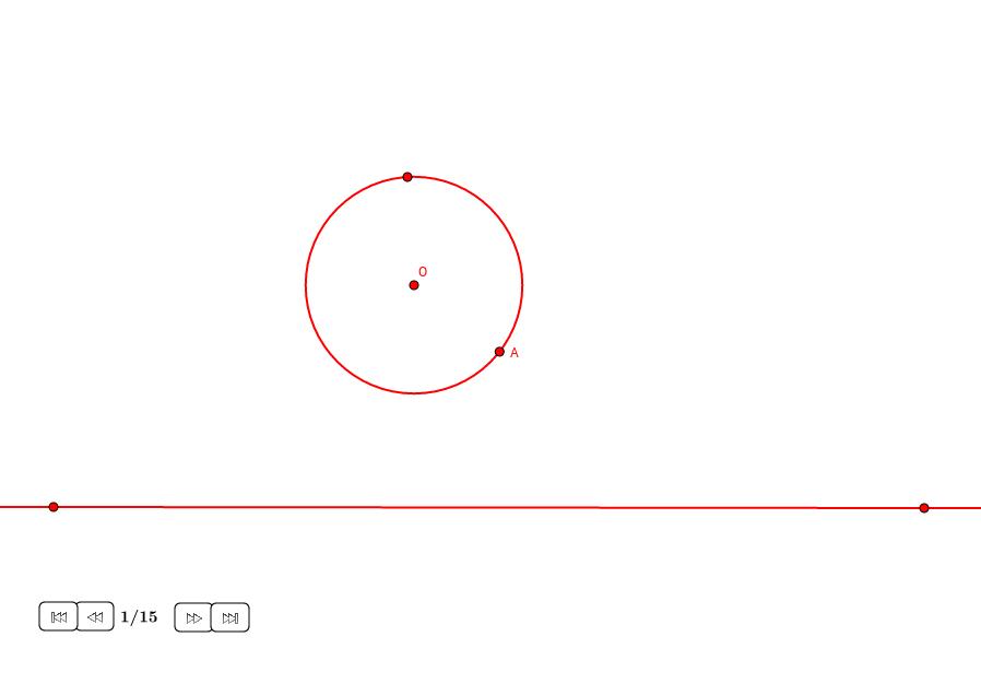Círculos tangentes a una recta y un círculo