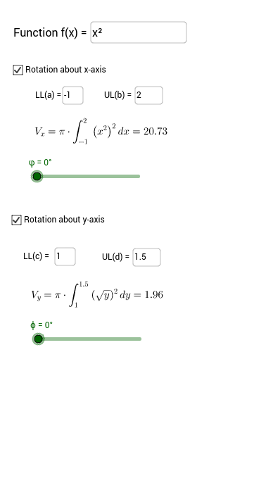 7.2 Finding Volumes by Integration