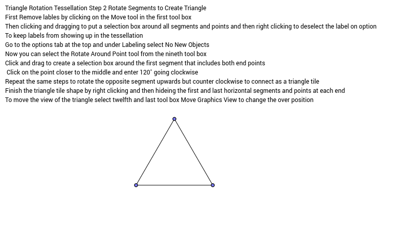 Triangle Rotation Tessellation Step Number 2 Rotate Segments
