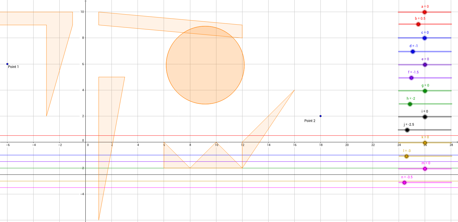 Straight line graph maze