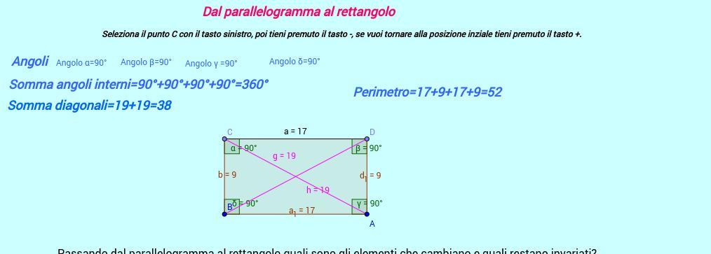 Dal parallelogramma al rettangolo