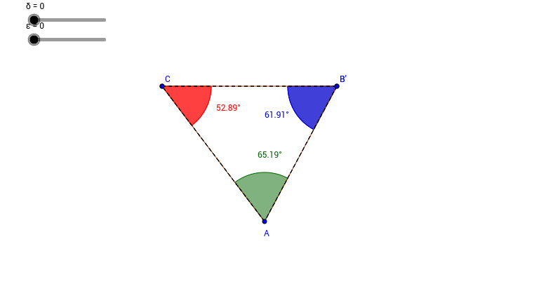 Sum of the Interior Angles of a Triangle