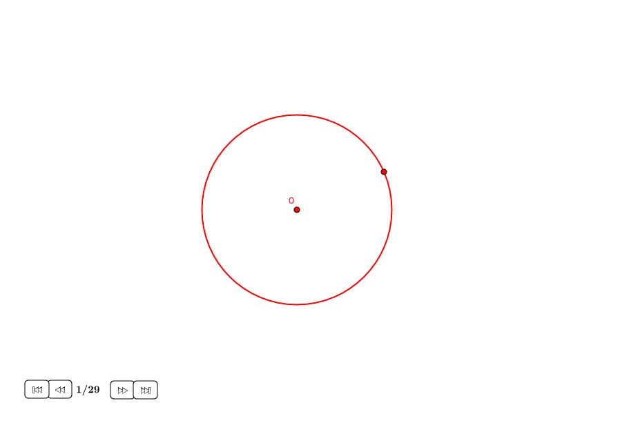 Triscaidecágono aproximado en un círculo