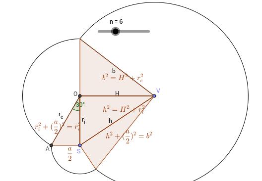 Pyramid apothem calculation