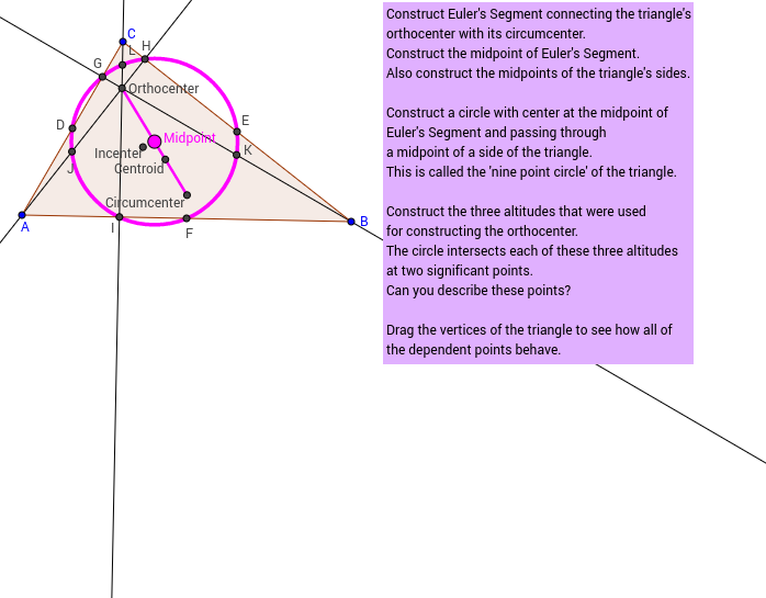 Challenge 44: The Nine-Point Circle of a Triangle