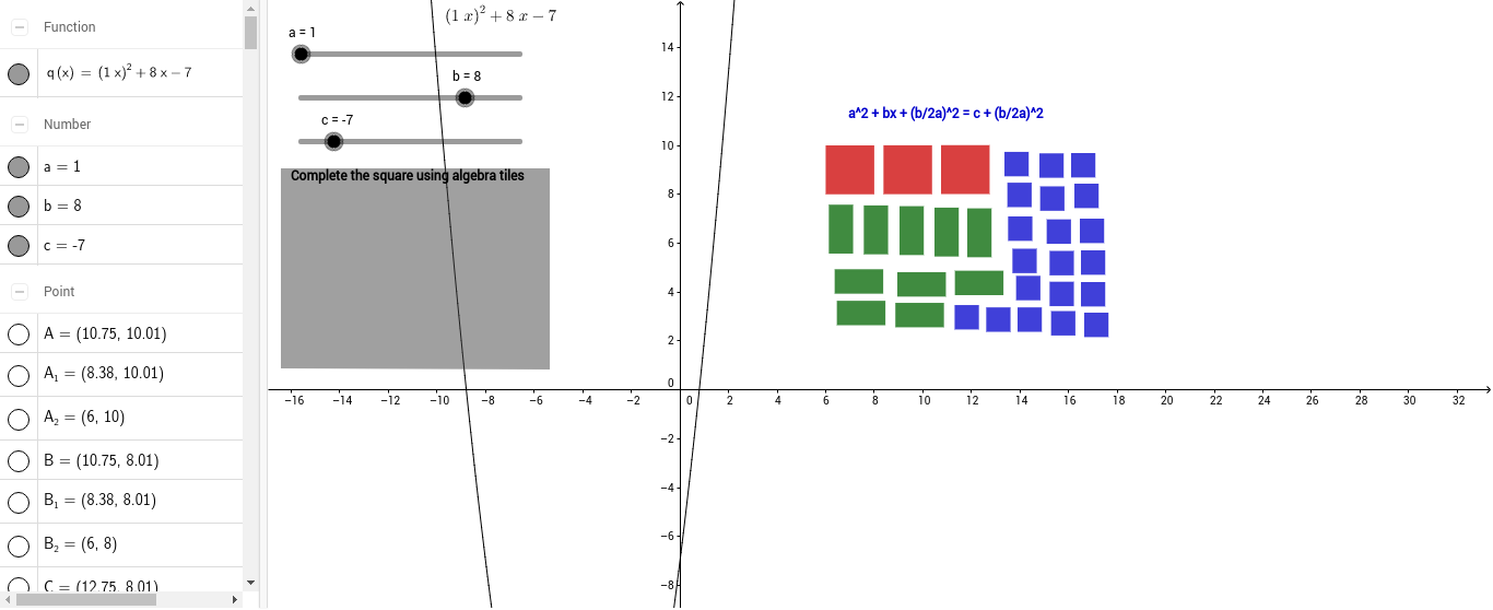 Completing the square using algebra tiles geogebra ccuart Image collections