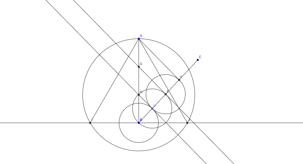 Construcción de un triángulo equilátero
