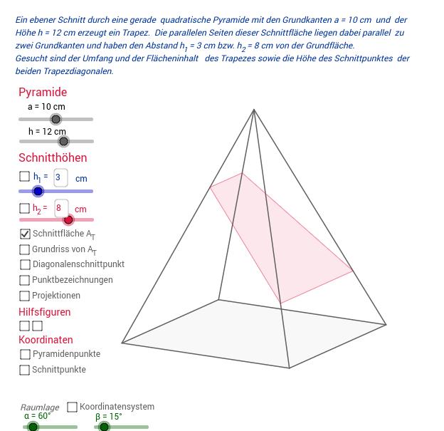 Trapez in einer Pyramide
