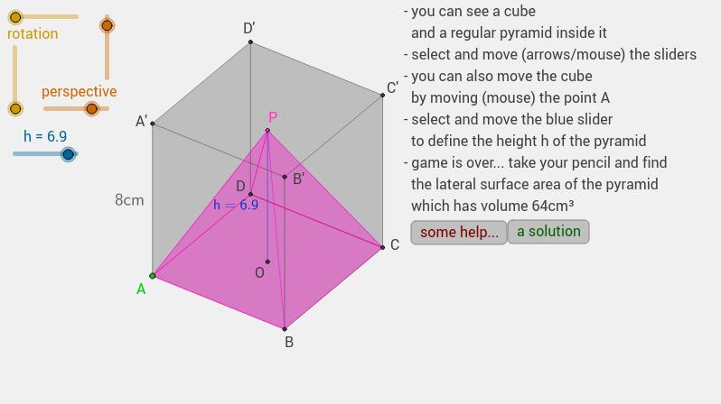 a pyramid inside a cube...