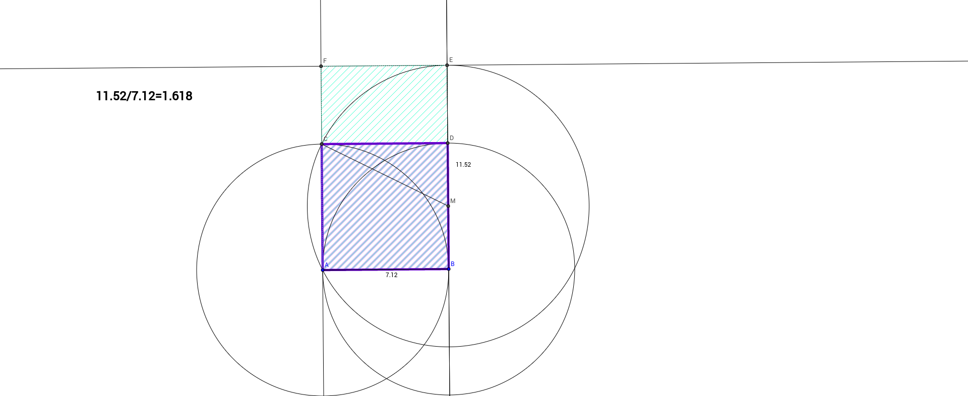 constructing a golden ratio geogebra. Black Bedroom Furniture Sets. Home Design Ideas