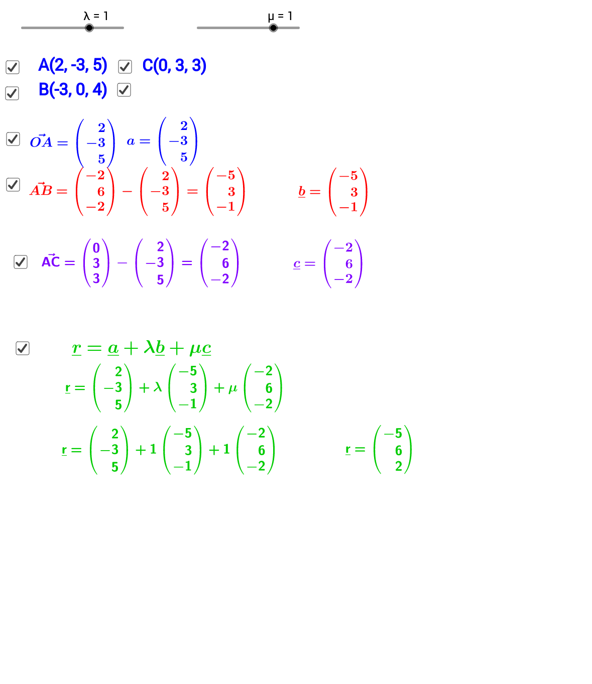 Vector Equation of a Plane 3D