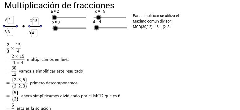 Multiplicación de fracciones (operaciones paso a paso)