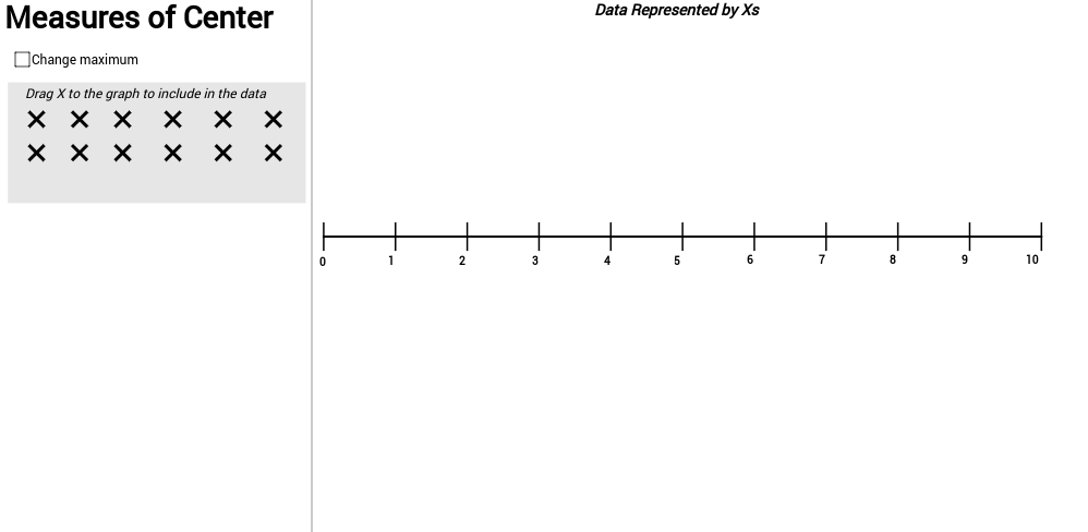 Measures of Center - Dot Plot - GeoGebra