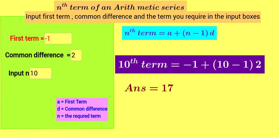 nth term of AP calculator