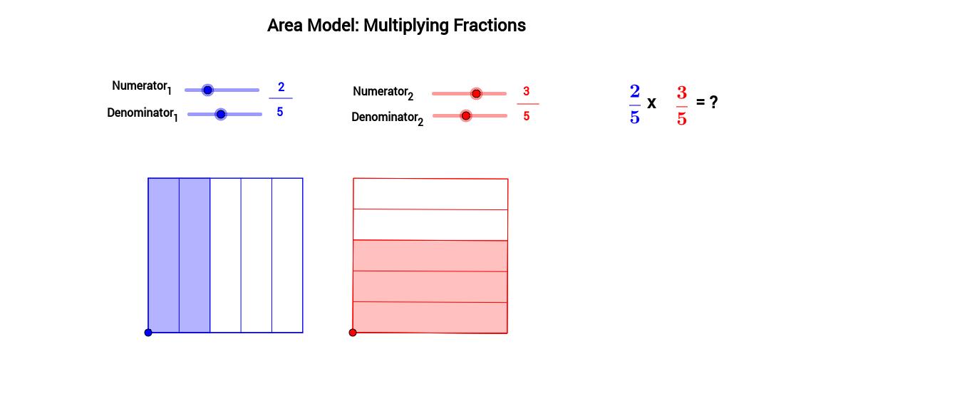 area model multiplying fractions geogebra. Black Bedroom Furniture Sets. Home Design Ideas