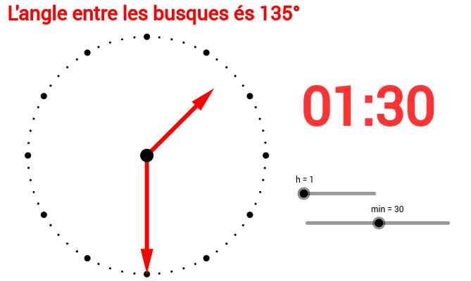 L'angolo compreso tra le lancette di un orologio