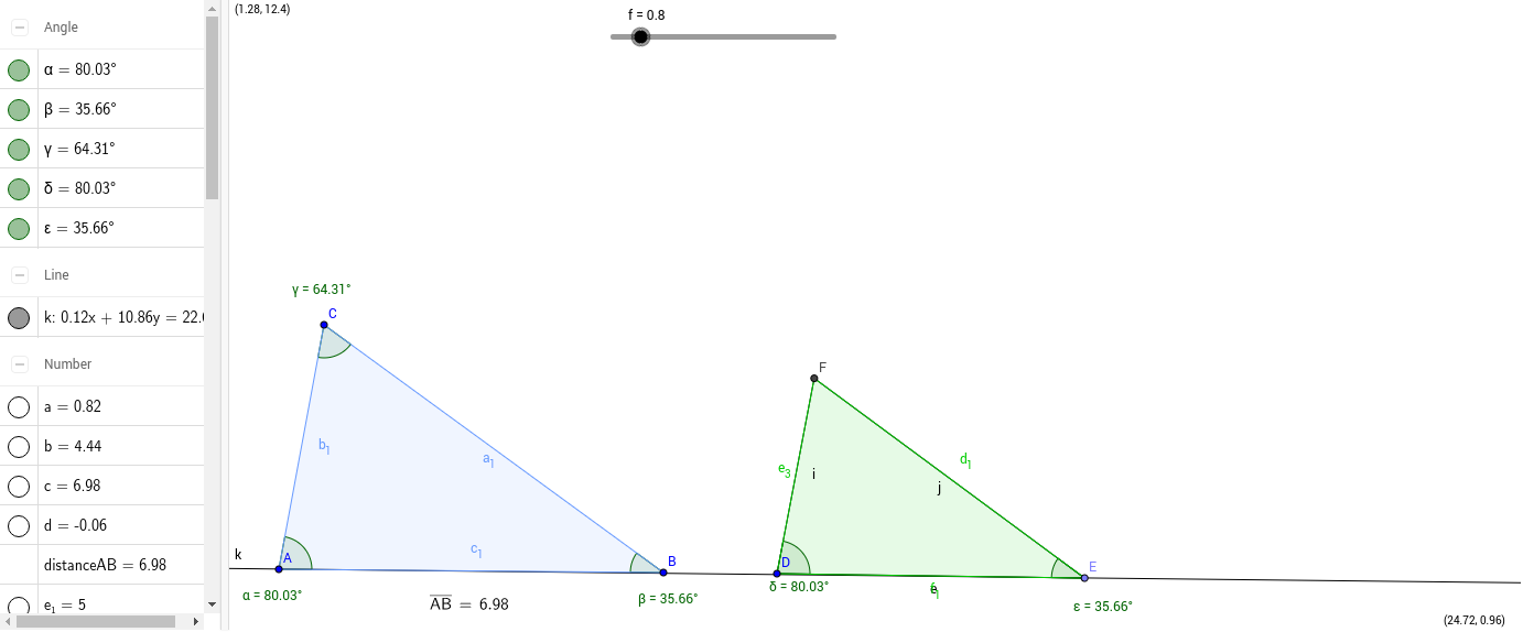 worksheet Similar Triangles Proportions Worksheet ratios and proportions geogebrabook 3 move the green triangle until point d is aligned on top of a e sitting line 4 now try moving c write down