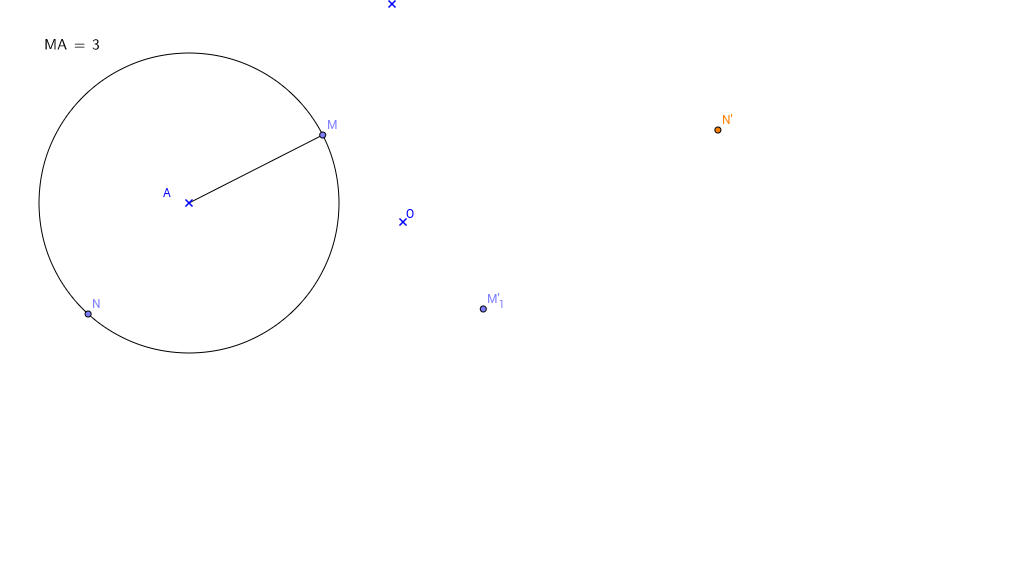 Image d'un cercle par une symétrie centrale