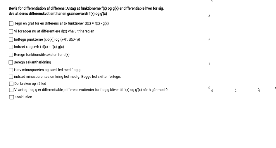 Klikbevis regneregel for differentation af differens
