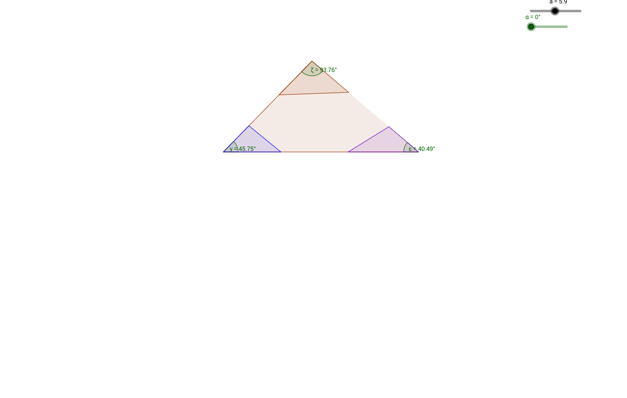 Angles in a triangle proof