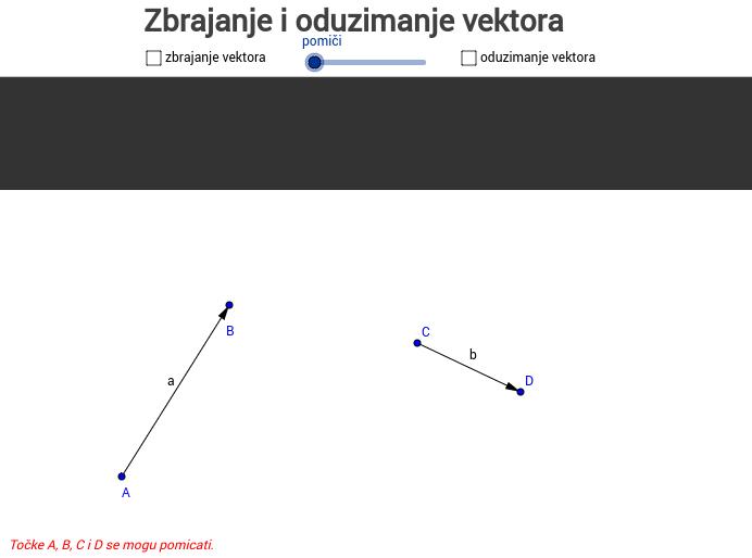 Zbrajanje i oduzimanje vektora
