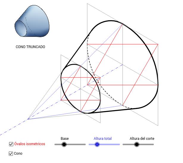 CONO TRUNCADO (isométrica)