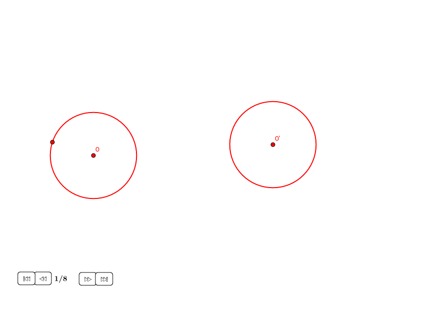 Tangentes externas a dos círculos iguales