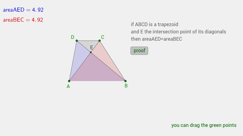 areas inside a trapezoid