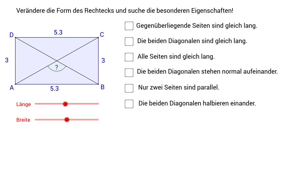 Rechteck/Quadrat
