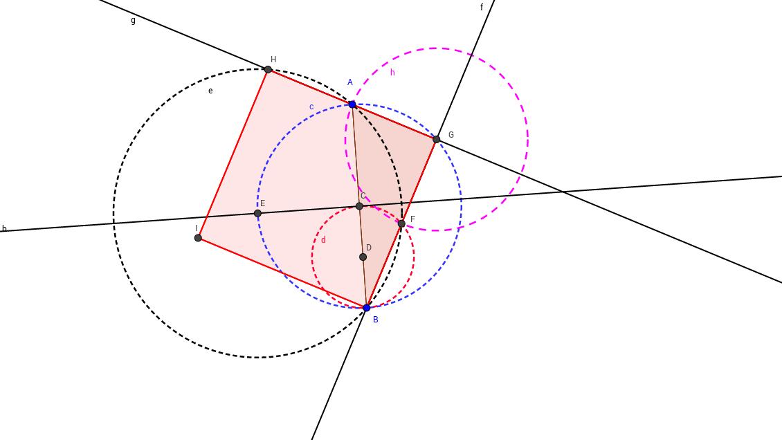 Construir un triángulo rectángulo a partir de un segmento