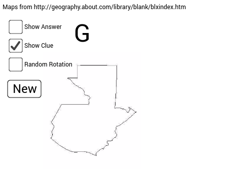 Random Country Outlines GeoGebra - Country outlines